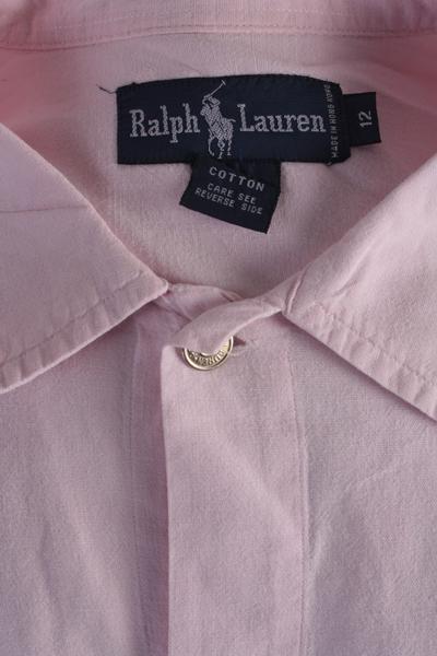 Ralph Lauren Vintage Long Sleeve Shirt Pink Size 12 - SH1567-6698