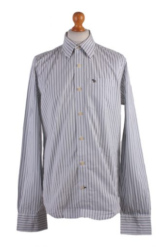 Abercombie&Fitch Long Sleeve Shirt White L