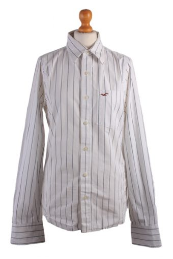 Hollister Long Sleeve Shirt 90s White S