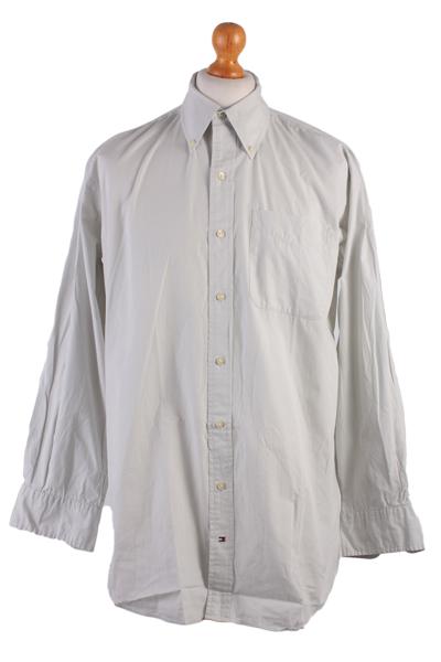 Tommy Hilfinger Vintage Long Sleeve Shirt Grey Size L - SH1654-0