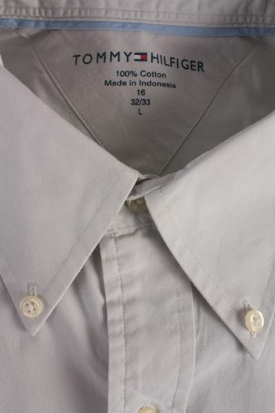 Tommy Hilfinger Vintage Long Sleeve Shirt Grey Size L - SH1654-7152