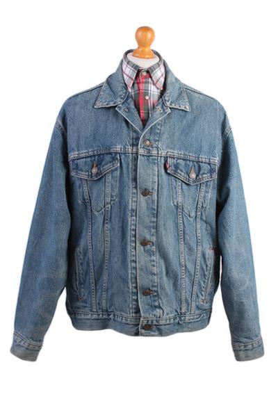 Levis Vintage Denim Jacket Blue USA With Lining Size L -DJ849-0