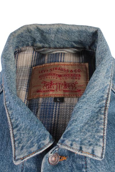 Levis Vintage Denim Jacket Blue USA With Lining Size L -DJ849-8970