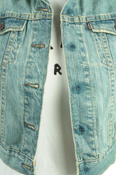 Levis Vintage Denim Jacket Blue Unisex Size S -DJ862-10055