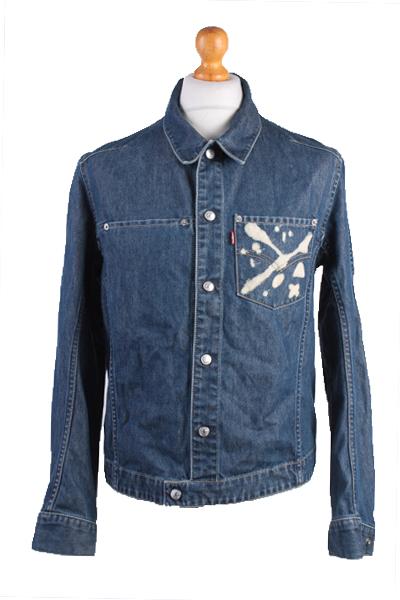 Levis Vintage Denim Jacket Blue Unisex Size M -DJ878-0