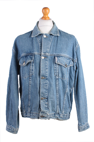 Rio Verde Vintage Denim Jacket Blue Unisex Size L -DJ894-0