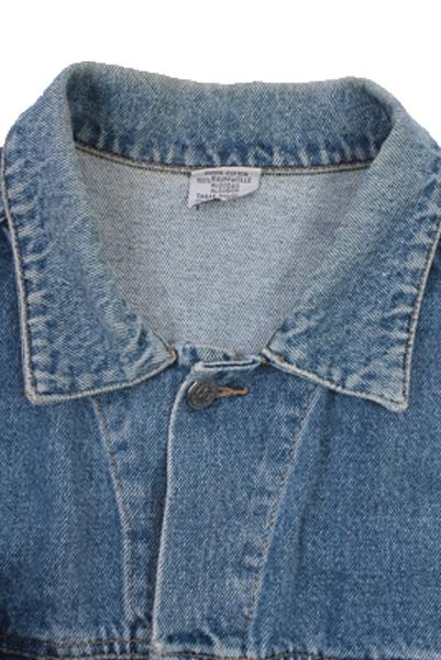 Rio Verde Vintage Denim Jacket Blue Unisex Size L -DJ894-10152