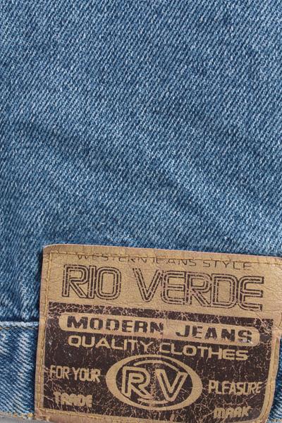 Rio Verde Vintage Denim Jacket Blue Unisex Size L -DJ894-10153
