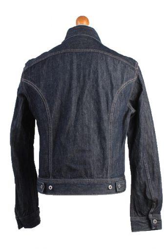 Diesel Vintage Denim Jacket Dark Blue Unisex Size M -DJ895-10155