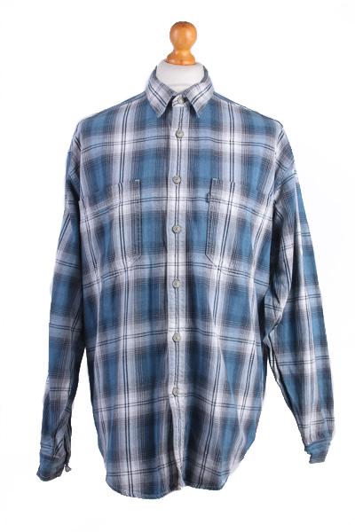 "Levis Vintage Long Sleeve Shirt Blue/Stripes Size 39"" - SH1732-0"