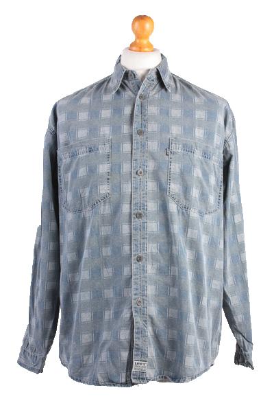 "Levis Vintage Long Sleeve Shirt Blue/Model Size 48"" - SH1751-0"