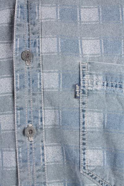 "Levis Vintage Long Sleeve Shirt Blue/Model Size 48"" - SH1751-10759"