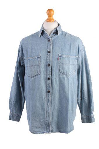 Levis Vintage Long Sleeve Women Shirt Blue Size L - SH1788-14395
