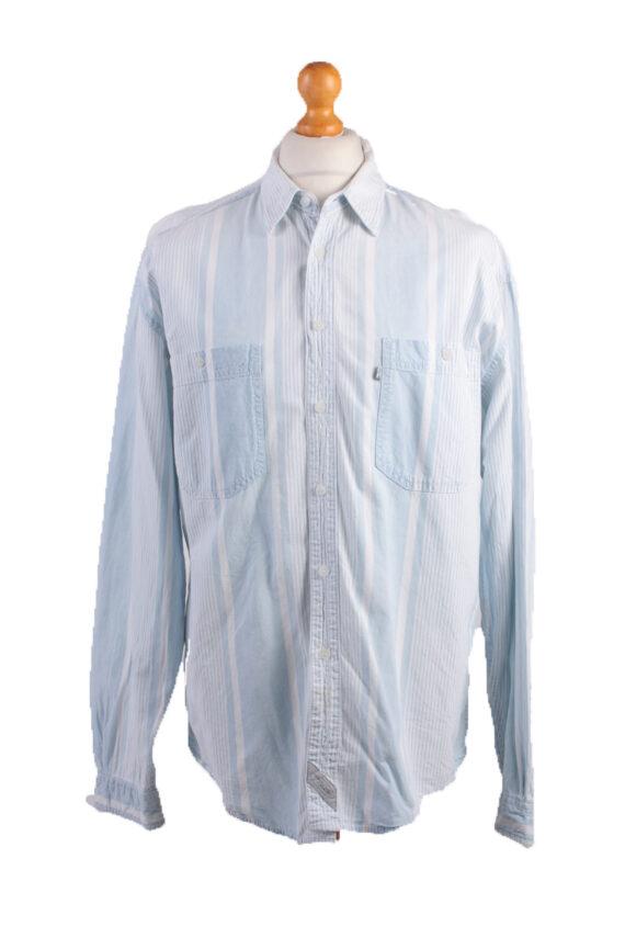 Levis Vintage Long Sleeve Shirt Blue with Stripes Size L - SH1812-0