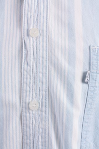 Levis Vintage Long Sleeve Shirt Blue with Stripes Size L - SH1812-14864