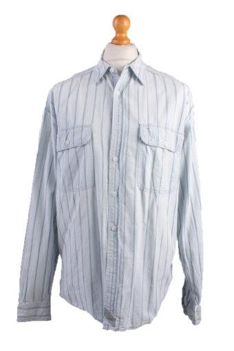 Levi's Long Sleeve Shirt 90s Retro Light Blue L