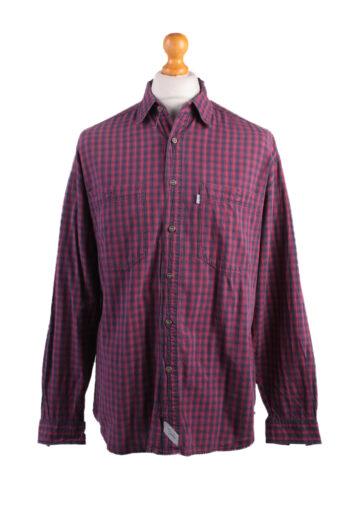 Levi's Long Sleeve Shirt 90s Retro Maroon M