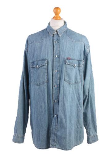 Mustang Long Sleeve Denim Shirt 90s Blue XL