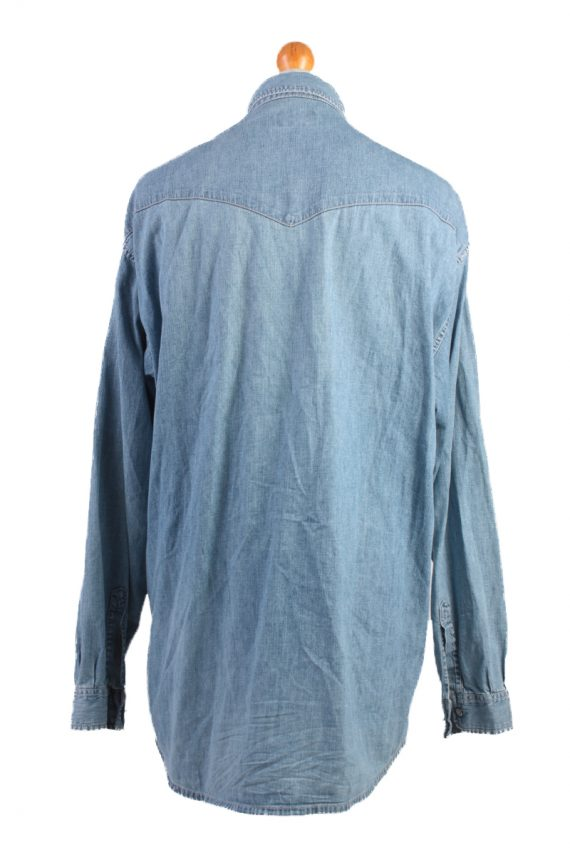 Mustang Jeans Vintage Long Sleeve Shirt Blue Size XL - SH1914-15277