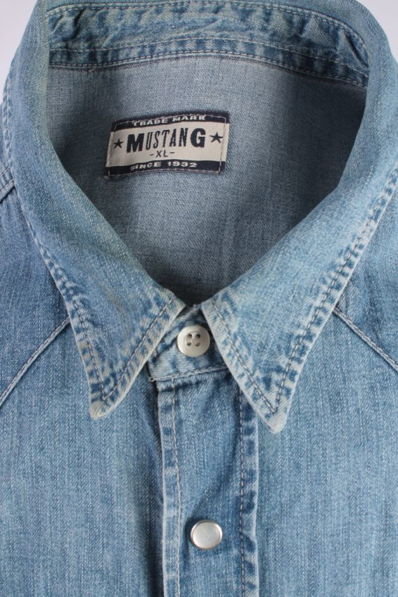 Mustang Jeans Vintage Long Sleeve Shirt Blue Size XL - SH1914-15278
