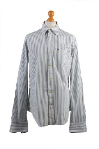Abercrombie&Fitch Long Sleeve Shirt /Stripes 90s White XL