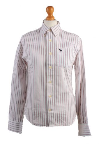 Abercrombie&Fitch Long Sleeve Shirt /Stripes 90s White L