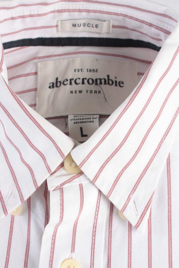 Abercrombie&Fitch Vintage Long Sleeve Shirt White/Stripes Size L- SH2063-15927