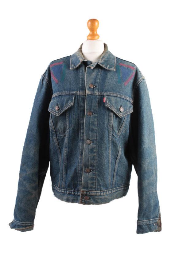 Levis Vintage Denim Jacket Dark Blue with Design Size L/XL -DJ1042-0