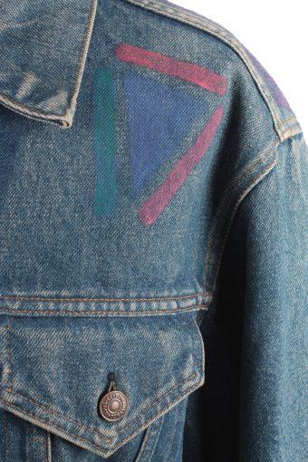 Levis Vintage Denim Jacket Dark Blue with Design Size L/XL -DJ1042-16128