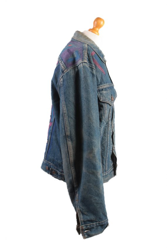 Levis Vintage Denim Jacket Dark Blue with Design Size L/XL -DJ1042-16129