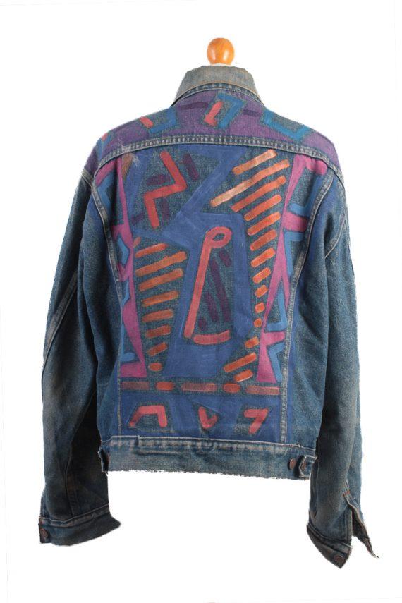 Levis Vintage Denim Jacket Dark Blue with Design Size L/XL -DJ1042-16130