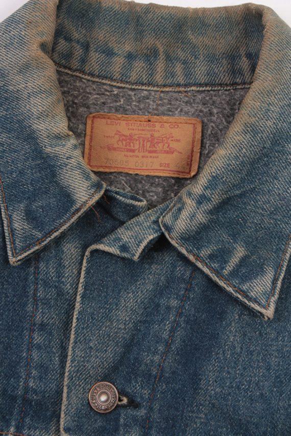 Levis Vintage Denim Jacket Dark Blue with Design Size L/XL -DJ1042-16131