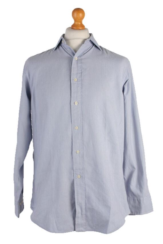 Polo by Ralph Lauren Vintage Long Sleeve Shirt Blue/Design Size 32/33 - SH1132-0