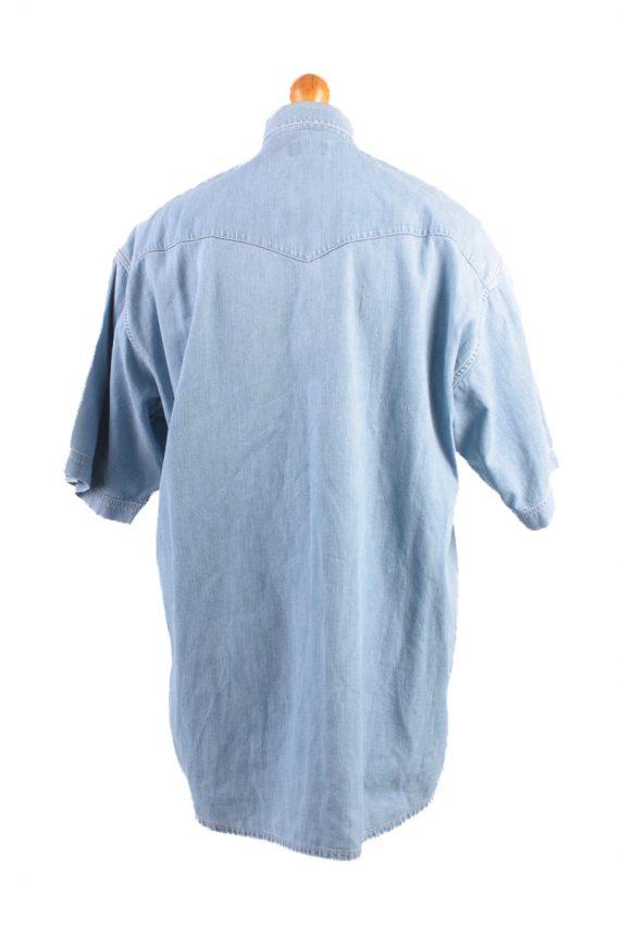Mustang Vintage Short Sleeve Shirt Blue Size L - SH1949-15443
