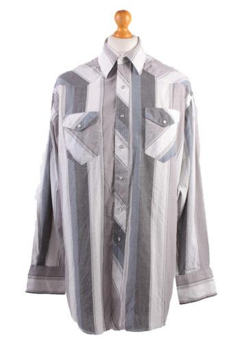 Wrangler Long Sleeve Shirt 90s Grey XL