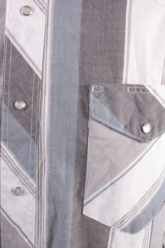 Wrangler Vintage Long Sleeve Shirt Grey/Stripes Size XL - SH1957-15470