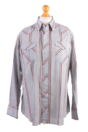 Wrangler Long Sleeve Shirt 90s Grey L