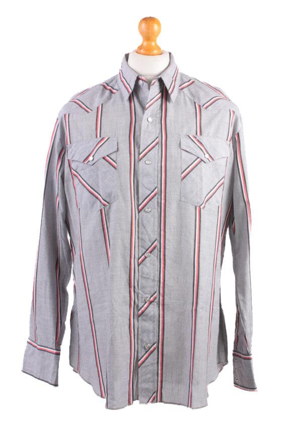 Wrangler Vintage Long Sleeve Shirt Grey/Stripes Size L - SH1961-0