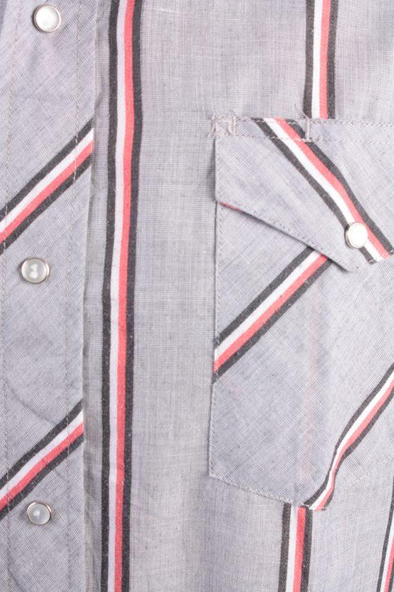 Wrangler Vintage Long Sleeve Shirt Grey/Stripes Size L - SH1961-15486