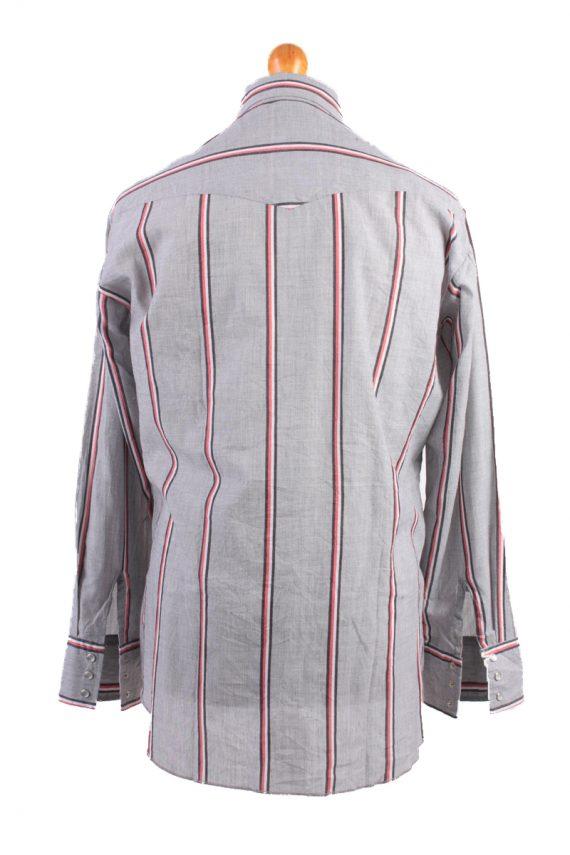 Wrangler Vintage Long Sleeve Shirt Grey/Stripes Size L - SH1961-15487