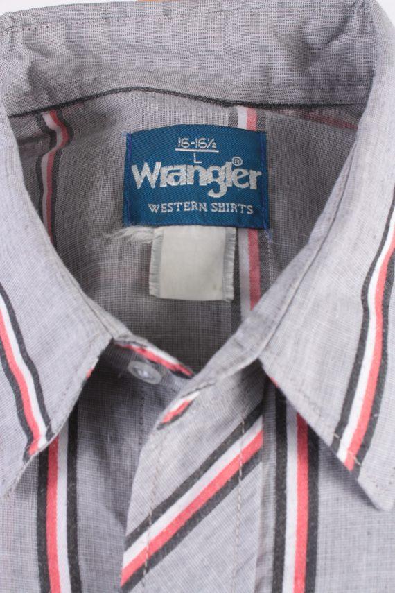 Wrangler Vintage Long Sleeve Shirt Grey/Stripes Size L - SH1961-15488