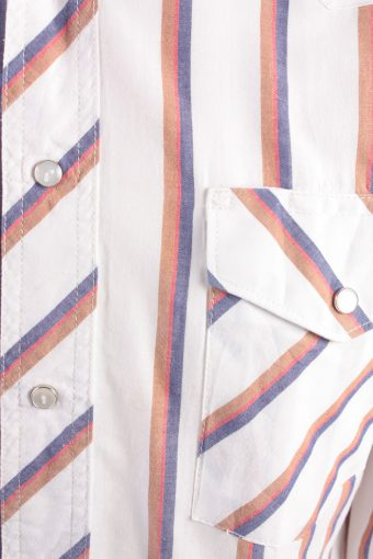 "Wrangler Vintage Long Sleeve Shirt White/Stripes Size 44"" - SH1963-15495"