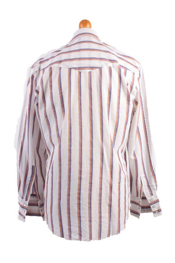 "Wrangler Vintage Long Sleeve Shirt White/Stripes Size 44"" - SH1963-15496"