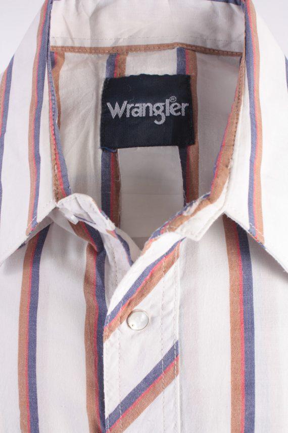 "Wrangler Vintage Long Sleeve Shirt White/Stripes Size 44"" - SH1963-15497"