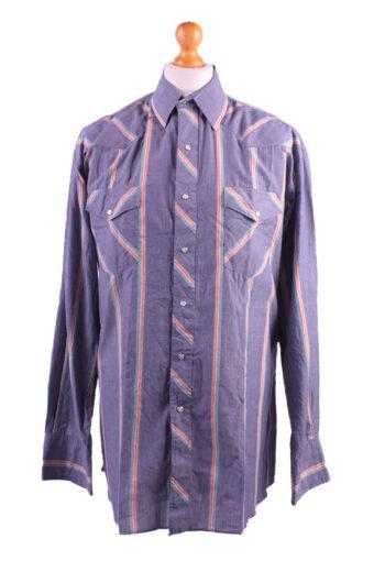 Wrangler Long Sleeve Shirt 90s Purple XL