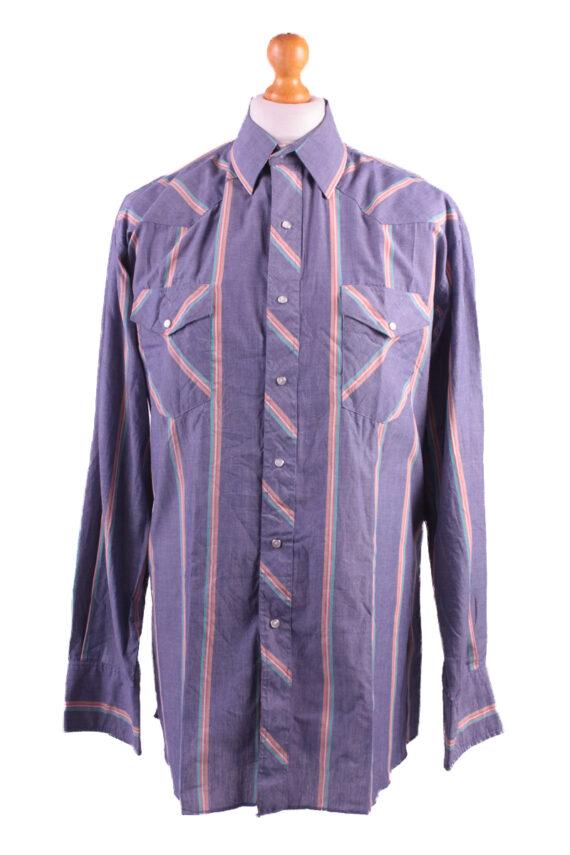 Wrangler Vintage Long Sleeve Shirt Purple/Stripes Size 36 - SH1964-0