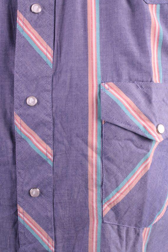 Wrangler Vintage Long Sleeve Shirt Purple/Stripes Size 36 - SH1964-15499