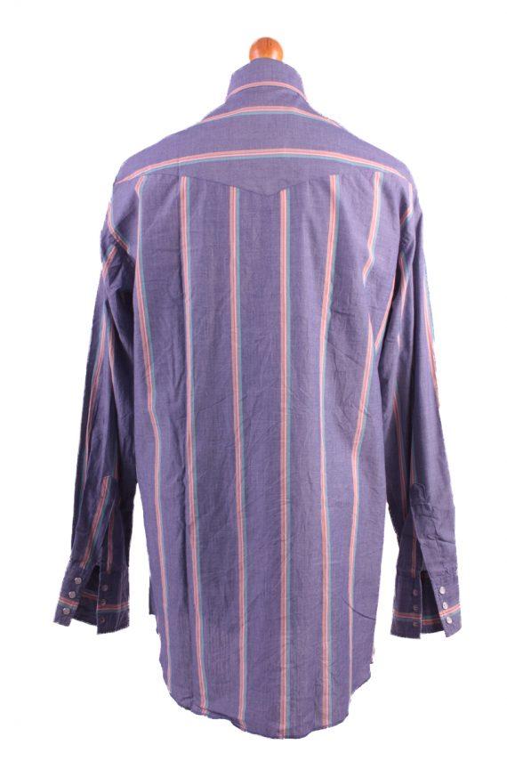 Wrangler Vintage Long Sleeve Shirt Purple/Stripes Size 36 - SH1964-15500