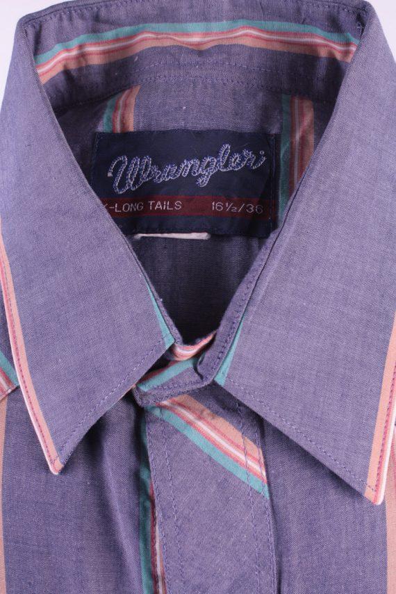 Wrangler Vintage Long Sleeve Shirt Purple/Stripes Size 36 - SH1964-15501