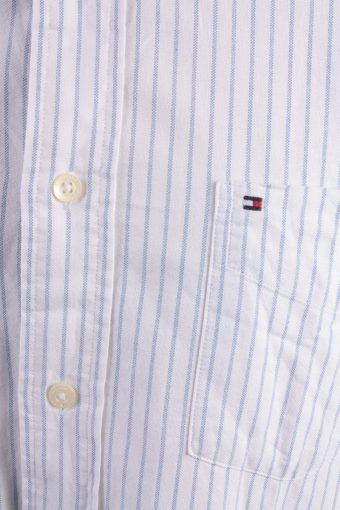 Tommy Hilfiger Vintage Long Sleeve Shirt White/Stripes Size L- SH1980-15287